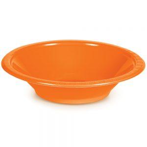 Sunkissed Orange Plastic Bowls 12 Oz. 240 Ct
