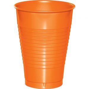 Sunkissed Orange Plastic Cups 12 Oz. 240 Ct