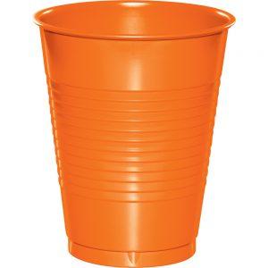 Sunkissed Orange Plastic Cups 16 Oz. 240 Ct