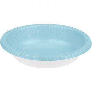 Pastel Blue Paper Bowls 20 OZ  200 Ct