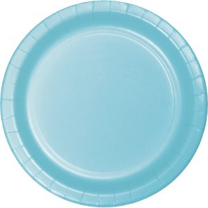 Pastel Blue Paper Lunch Plates 240 Ct