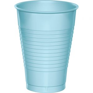 Pastel Blue Premium Plastic Cups 12 OZ 240 Ct