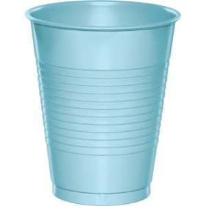 Pastel Blue Premium Plastic Cups 16 OZ 240 Ct
