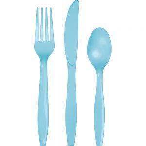 Pastel Blue Premium Cutlery Asst 288 Ct