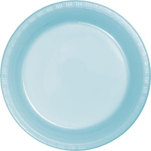 "Pastel Blue Plastic Lunch Plates 9"" 240 Ct"