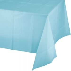 "Pastel Blue Plastic Rectangular Tablecover 54"" X 108"" 12 Ct"