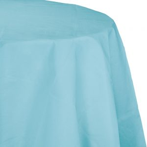 "Pastel Blue Tablecover, Octy Round 82"" 12 Ct"