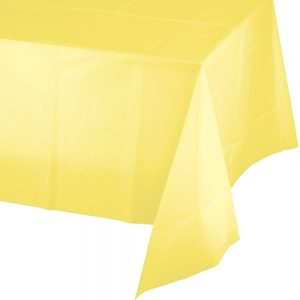 "Mimosa Plastic Rectangular Tablecover 54"" X 108"" 12 Ct"