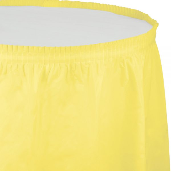 "Mimosa Plastic Tableskirts, 14' X 29"" 6 Ct"
