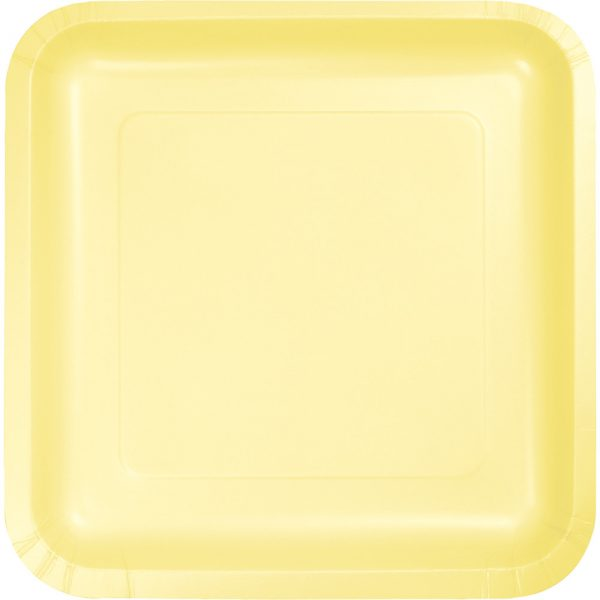 "Mimosa Paper Lunch Plates 9"" Square 180 Ct"