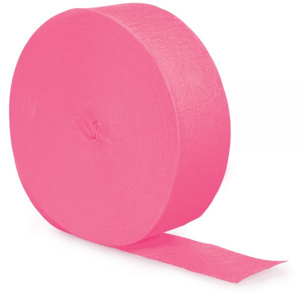Candy Pink Crepe Streamers 81' 12 Ct
