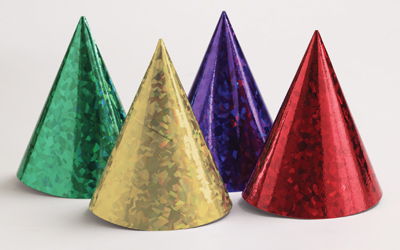 Prismatic Paper Party Hats, Asst Colors 48ct