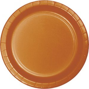 "Pumpkin Spice Paper Lunch Plates 9"" 240 Ct"
