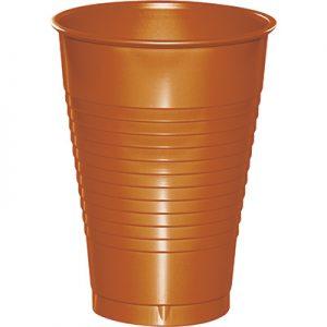 Pumpkin Spice Plastic Cups 12 Oz. 240 Ct