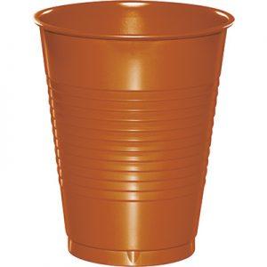 Pumpkin Spice Plastic Cups 16 Oz. 240 Ct