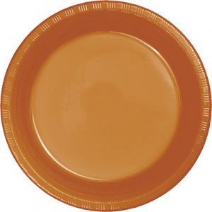 "Pumpkin Spice Plastic Lunch Plates 9"" 240 Ct"
