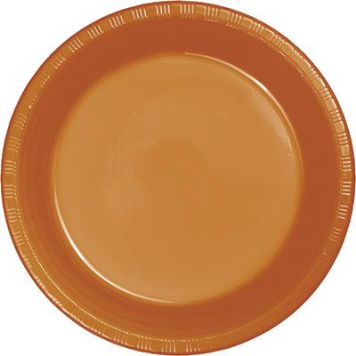 "Pumpkin Spice Plastic Lunch Plates 9"" 240 Ct"