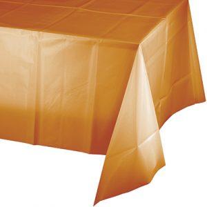 "Pumpkin Spice Plastic Rectangular Tablecover 54"" X 108"" 12 Ct"