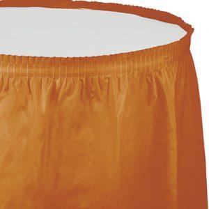 """Pumpkin Spice Plastic Tableskirts, 14' X 29"""" 6 Ct"""