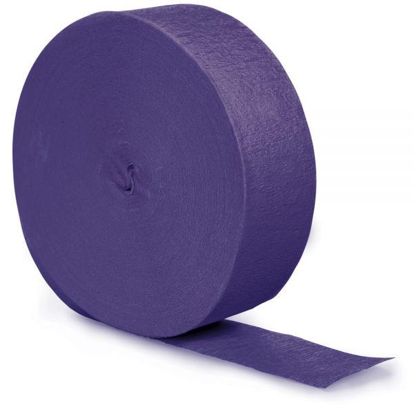 Purple Crepe Streamers 81' 12 Ct