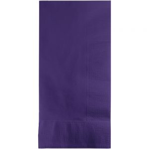 Purple Dinner Napkins 2Ply 1/8Fld 600 Ct