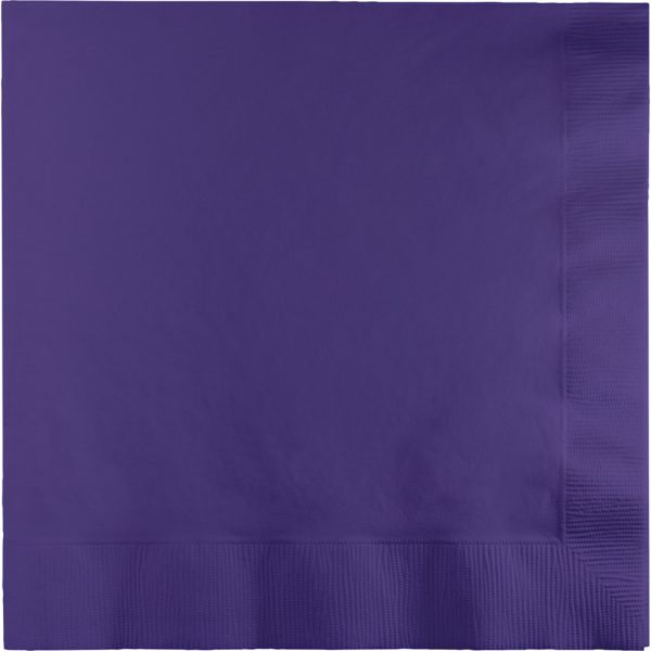 Purple Lunch Napkins 2Ply 600 Ct