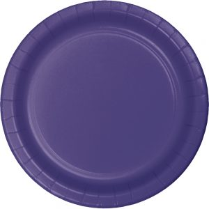 "Purple Paper Dessert Plates 7"" 240 Ct"