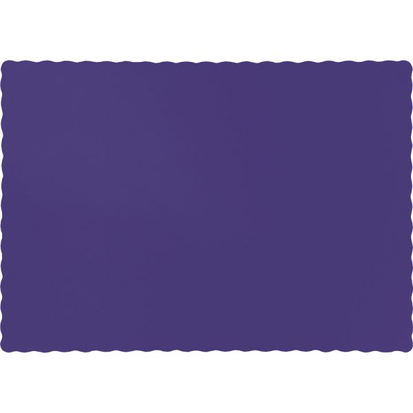 Purple Paper Placemats 600 Ct