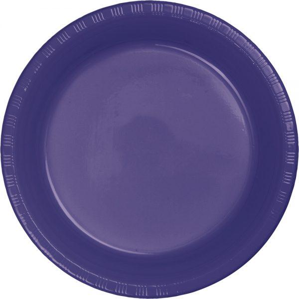 "Purple Plastic Lunch Plates 9"" 240 Ct"