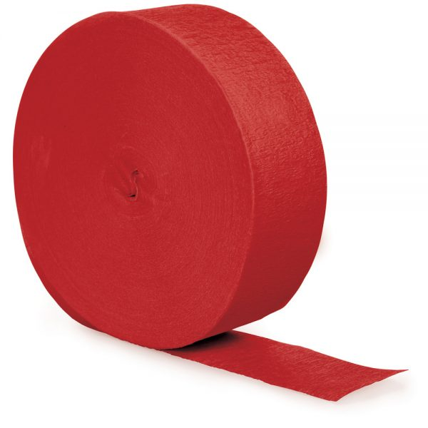 Classic Red Crepe Streamers 500' 12 Ct