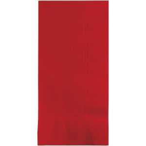 Classic Red Dinner Napkins 2Ply 1/8Fld 600 Ct