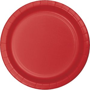 "Classic Red Paper Dinner Plates 10"" 240 Ct"