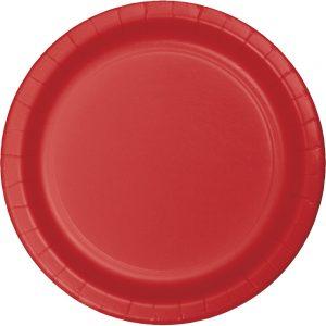 "Classic Red Paper Dessert Plates 7"" 240 Ct"