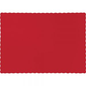 Classic Red Paper Placemats 600 Ct