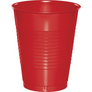 Classic Red Plastic Cups 16 Oz. 240 Ct