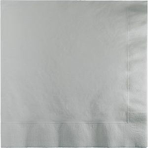 Shimmering Silver Lunch Napkins 2Ply 600 Ct