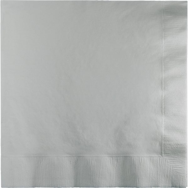 Shimmering Silver Lunch Napkins 3Ply 500 Ct
