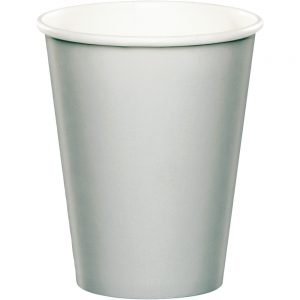 Shimmering Silver Hot/Cold Cups 9Oz. 240 Ct