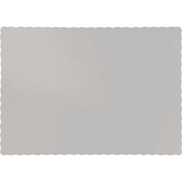 Shimmering Silver Paper Placemats 600 Ct