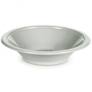 Shimmering Silver Plastic Bowls 12 Oz. 240 Ct