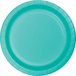 "Teal Lagoon Paper Dessert Plates 7"" 240 Ct"