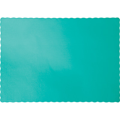 Teal Lagoon Paper Placemats 600 Ct