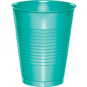 Teal Lagoon Plastic Cups 16 Oz. 240 Ct