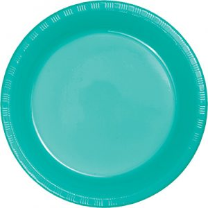 "Teal Lagoon Plastic Lunch Plates 9"" 240 Ct"