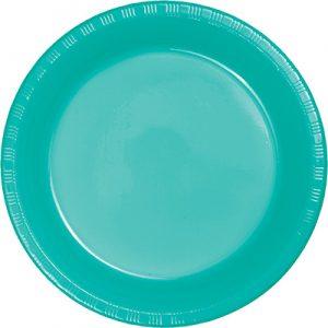 """Teal Lagoon Plastic Dessert Plates 7"""" 240 Ct"""
