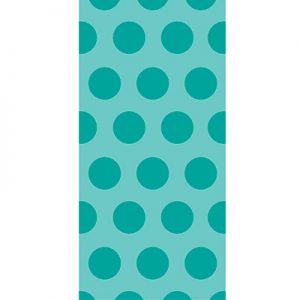 Cello Bags - Two Tone Teal Lagoon Dots 240 Ct