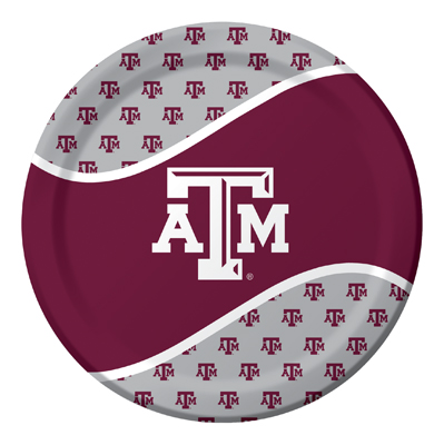 Texas A & M University Lunch Plate 96 Ct