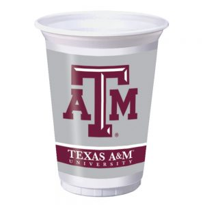Texas A & M University 20 oz Plastic Cups 96 Ct