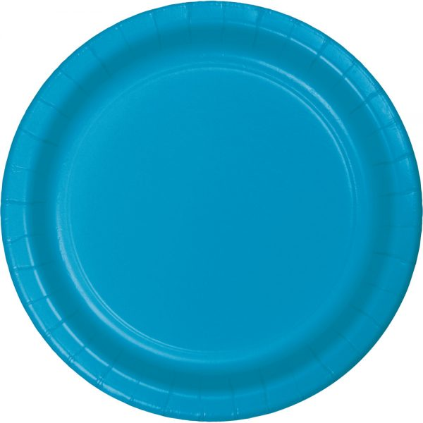 "Turquoise Paper Dinner Plates 10"" 240 Ct"