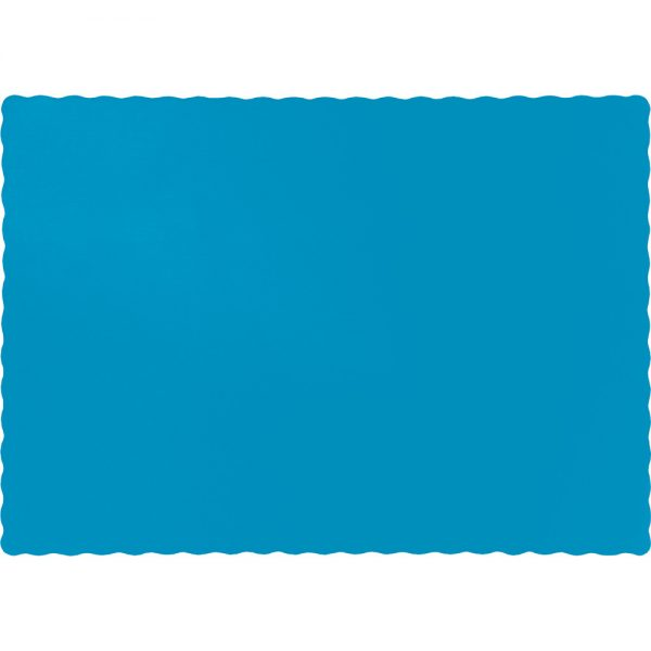 Turquoise Paper Placemats 600 Ct